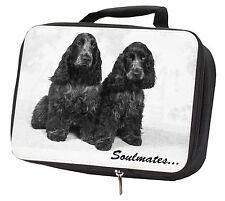 Blue Roan Cocker Spaniel Dogs 'Soulmates' Black Insulated School Lun, SOUL-50LBB