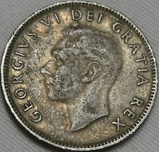 1950 25C Canada 25 Cents, Canadian Quarter, George VI, Silver, #9171