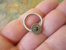Multi-Color Shield Mandala Lab Opal Captive Ring Hoop Septum Helix Surgical CBR