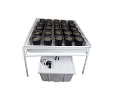 Viagrow Ebb and Flow Drain Hydroponics Deep Grow Indoor System 4 ft. x 4 ft