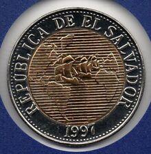 El Salvador 5 colones 1997 Km162 UNC Never issued Nooit uitgegeven Bi-metalic