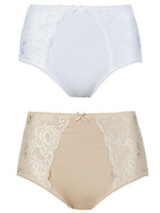 Fa M ou S High St Store Firm Control Shaping Full Briefs Knickers 2 Pack RRP £15