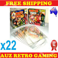 22x N64 / SNES Thick GAME BOX PROTECTORS Cases Nintendo 64 BOXED Games