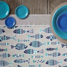 Telas y tejidos color principal azul de poliéster para costura y mercería