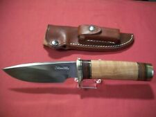 Randall Knife Knives Model 25 Trapper With Maple Handle & Brass Butt Cap, Mint!