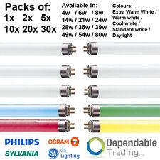 Packs of BRANDED T5 FLUORESCENT TUBES 6, 9, 12, 21 inch 2ft 4ft 3ft 5ft 6ft foot