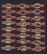 Série complète de 24  Bagues  de Cigare Label Taf  BN10287 Femmes célèbres