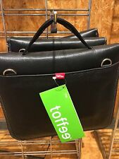 BRAND NEW TOFFEE IPad ATTACHE LEATHER case - BLACK RRP @ $159