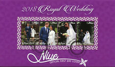 Niue 2018 FDC Prince Harry & Meghan Royal Wedding 4v M/S Cover Royalty Stamps