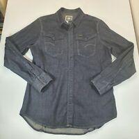 G Star Raw Mens Western Style Denim Shirt Pearl Snap Button Long Sleeve XXL