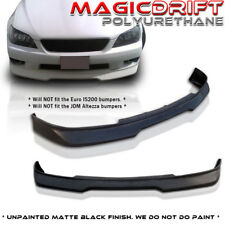 NEW 01-05 Lexus IS300 POLY URETHANE BLACK FRONT BUMPER LIP SPOILER BODY KIT