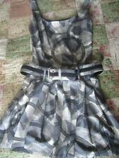 EUC A.B.S by Allen Schwartz Black & White Dress Size M