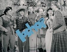 THREE STOOGES 3 costar Adrian Booth Brian LORNA GRAY signed autograph phOtO FuN