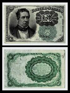1874 FR1264 10¢ FIFTH ISSUE FRACTIONAL GREEN SEAL ~~XF