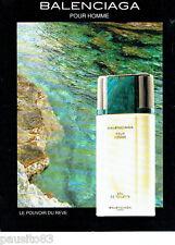 PUBLICITE ADVERTISING 046  1991  Eau de toilette Balenciaga   pour homme