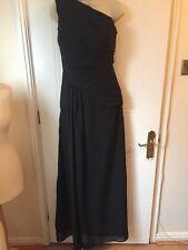 Ladies Full Length Black Evening Prom Dress Size 8 NWT Asymmetrical