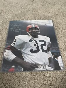 1960's PhotoJIM BROWN Cleveland Browns INCREDIBLE Clarity!16x20 Auto Inscr