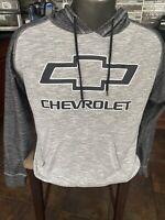 Licensed GM CHEVY Chevrolet HEATHER GRAY Hoodie HOODED SWEATSHIRT MEN M