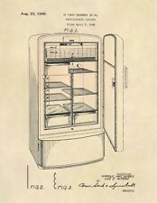 Vintage Philco Refrigerator US Patent Art Print - Antique Vintage Kitchen - 770