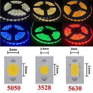 5M RGB LED Strip Light SMD 3528 5050 5630 3014 5054 Waterproof tape string lamp