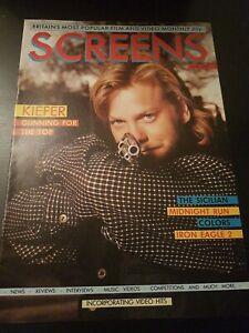 SCREENS MAGAZINE JUNE 1989 KIEFER SUTHERLAND VHS RENTAL VIDEO MAGAZINE