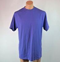 Vtg 80s 90s Fashion Gear Heavyweight T-shirt sz L USA Fabric Purple Blank NWOT