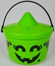 *** Vintage 1986 McDonalds Green Witch Halloween Bucket Trick-or-Treat Candy ***