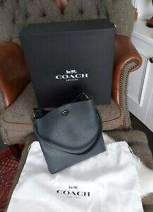 BNWT Coach Charlie Bucket Bag - Pine Green leather