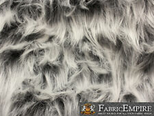 """Faux Fur Fabric Long Pile Monkey Shaggy GRAY FROST / 60"""" Wide / Sold by the yard"""