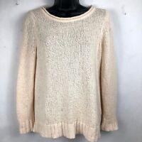 J. Crew women's ivory long sleeve sweater size XS - long sleeve, soft