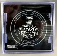 2014 STANLEY CUP GAME 5 OFFICIAL NHL GAME PUCK IN CUBE LA KINGS CLINCH CUP