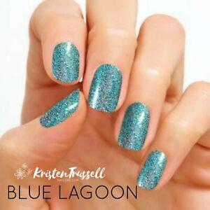 Color Street Nail Polish Strips Blue Lagoon Rare HTF Teal Glitter Retired New