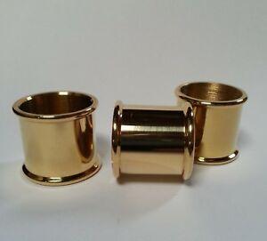 3 mixed BEADED BRASS COLLARS 20mm, 21mm & 22mm diameter for Walking Stick Making