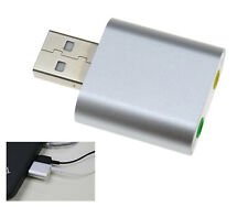 USB 2.0 External Stereo Audio 7.1 Channel 3D Sound Card Adapter Aluminum For PC