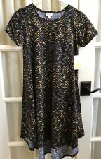 NWT LuLaRoe XXS Carly Dress Aztec Gold Mustard Red - Orange Black New with Tag