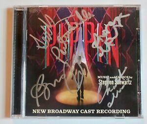 PIPPIN SIGNED BROADWAY CAST CD STEPHEN SCHWARTZ PATINA MILLER MARTIN JONES