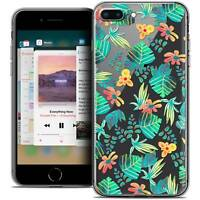 """Coque Crystal Gel Pour iPhone 8 Plus (5.5"""") Extra Fine Souple Spring Tropical"""
