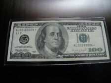 """1996 FEDERAL RESERVE NOTE $100.00  """"STAR NOTE""""  LOW SERIAL NUMBER"""