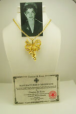 Jackie Kennedy Victorian Angel Pin/Pendant Necklace (w/box,pouch,certificate)