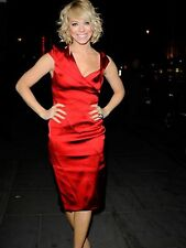 KAREN MILLEN WINTER RED DRESS SIZE 10 PARTY OFFICE BLOGGERS SOLD OUT