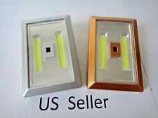 2 pk Motion Sensor COB LED Wall Lighted Wireless Night Light Battery Included