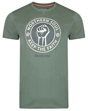 Lambretta T-shirts Tee Crew Neck Short Sleeve Northern Soul Mens Cotton UK S-4xl Khaki 4xl