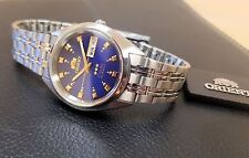 Orient Classic Dress Watch Automatic Stainless Steel Deep Blue Dial FREE US SHIP