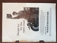 H1a Ephemera 1960s advert bank with the westminster heigh ho for the open road