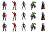 30 Avengers Edible Cupcake Toppers Rice Card Cake Fairy Birthdays Pre Cut