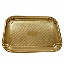 200x145mm Gold Rectangular Cardboard Disposable Pastry , Cake Trays , pack of 5