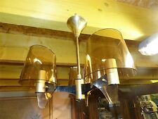 """lustre plafonier 3 lumières """"MAISON CHARLES"""" métal doré années 60s70svintage"""
