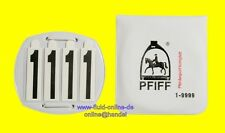 PFIFF 100958 Kopfnummern steckbar 4 Zahlen stellig Kopfnummer für Tunier - NEU