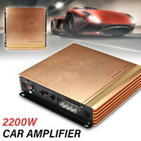 MECO 2200W Car Power Amplifier Audio Power Stereo 2 CH HiFi Super Bass Amp