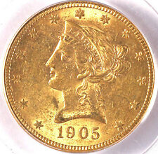 1905-S $10 Ms61 Pcgs-Only 64 In Higher Grade-Mintage 369,250-Liberty-$10 Gold